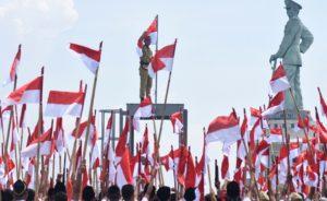 Puluhan Ribu Bendera Merah Putih di Kibarkan. Foto Ilustrasi/IST