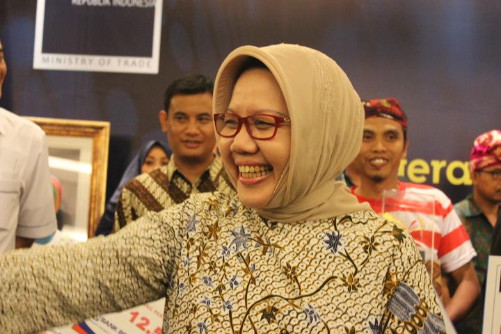 Sekretaris Jenderal Kemendag Srie Agustina. Foto Andika/Nusantanews