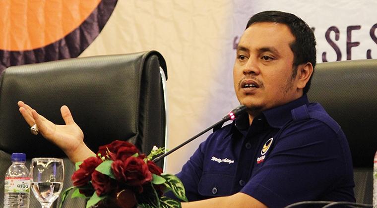 Wasekjen DPP Partai Nasdem, Willy Aditya. Foto via harnas