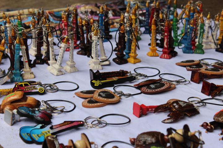 Ratusan lapak makanan memenuhi Istiqlal layaknya foodcourt dadakan.Foto Andika/Nusantaranews