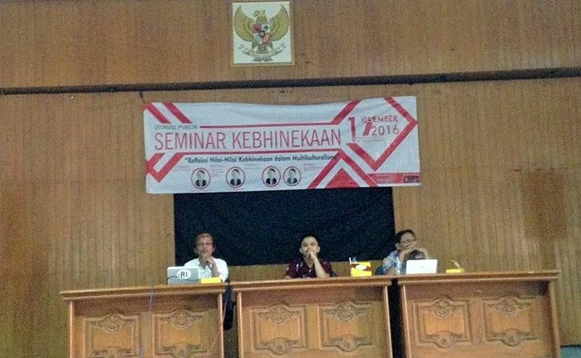 BEM UPN Veteran Yogyakarta gelar semimar terbuka bertajuk Refleksi Nilai-nilai Kebhinnekaan dalam Multikulturalisme, Sabtu (17/12)/Foto Solihin