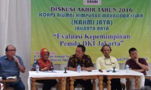 Diskusi publik bertema 'Evaluasi Kepemimpinan Pemda DKI Jakarta', di The Kemuning, Menteng, Jakarta Pusat, Kamis, (29/12/2016)/Foto Fadilah/NUSANTARAnews