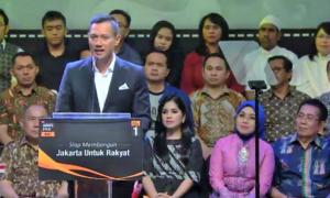 AHY Saat pidato politik di Segara Garden, Hotel Dharmawangsa, Jalan Brawijaya, Jakarta Selatan, Minggu (11/12/2016)/Foto via Youtube