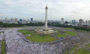 Aksi Massa Penuhi Tugu Monas dari udara. Foto Dok. FPI