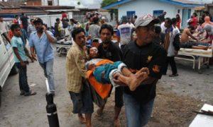 Doakan Aceh! Dilanda gempa bumi hari ini. Berukuran 6.4 skala Richter. Ramai dilaporkan terkorban dan cedera/Foto Istimewa (@AbdMalekHussin)