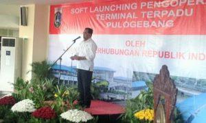 Menteri Perhubungan (Menhub) Budi Karya Sumadi saat meresmikan Terminal Pulogebang/Foto Andika/NUSANTARAnews