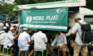 Mobil Pijat Disediakan Untuk Peserta Aksi Super Damai 212/Foto Fadilah /Nusantaranews