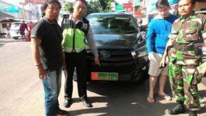 Mobil berplat palsu TNI/Foto Istimewa