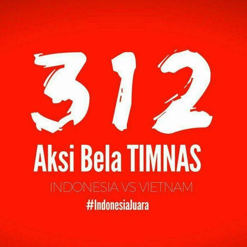 Ilustrasi Aksi bela Tiimnas 312, indonesia vs timnas. Foto IST