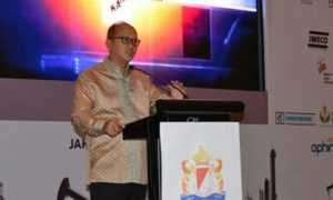 Ketua Kamar Dagang dan Industri (Kadin) Indonesia Rosan P Roeslani. Foto Andika/Nusantaranews