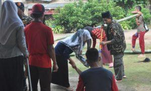 PC GP Ansor Way Kanan melakukan karya bakti bersama remaja dan masyarakat. Foto dok. pribadi