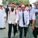Para santri peserta long march Ciamis-Jakarta dalam rangka aksi demonstrasi Aksi Bela Islam III/Foto: Dok. JPNN