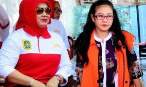 Bupati Klaten, Sri Hartini dan mantan Politikus (PDIP) Damayanti Wisnu Putranti/Ilustrasi Foto: Nusantaranews