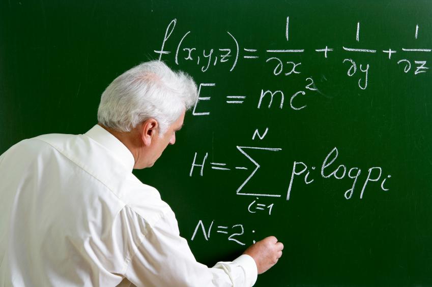 Rumus fisika E=MC2 yang dipopulerkan oleh Albert Einstin. Foto Ilustrasi