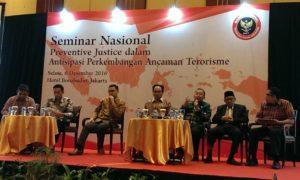 Seminar Nasional Antisipasi Perkembangan Ancaman Terorisme. Foto Hatiem/Nusantaranews