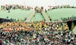 Gerakan Mahasiswa: Reformasi 1998, Mahasiswa duduki gedung DPR/MPR/Foto: Dok. Merdeka