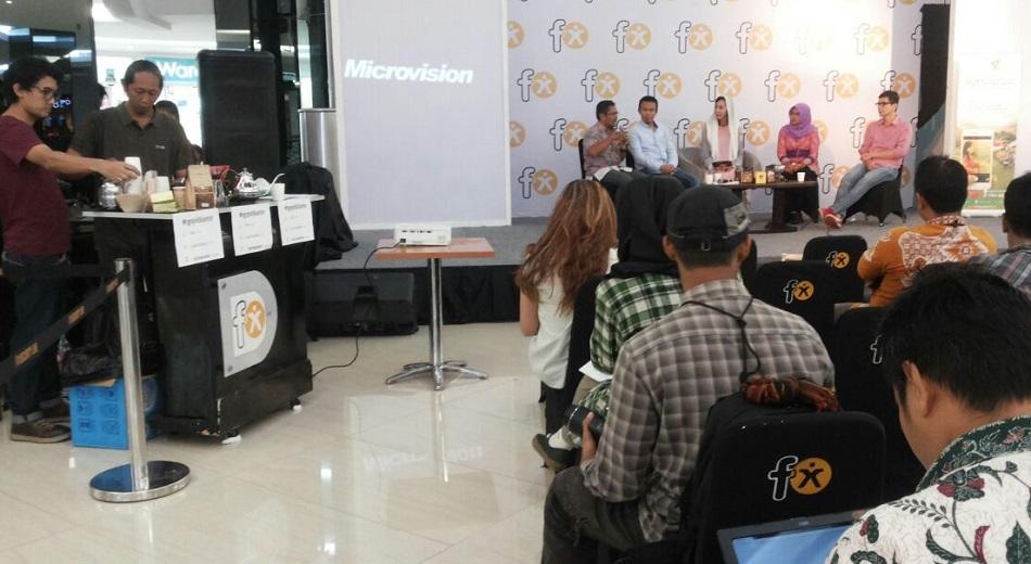 diskusi tentang kopi di FX Senayan. Foto Dok. Pribadi