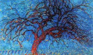Avond; De rode boom (Atardecer, árbol rojo) / De grijze boom (El árbol gris) / Bloeiende appelboom (Manzano en flor) / Tableau No. 2 - Composition No. VII/Foto via artealasocho.blogspot.com