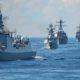 Kapal-kapal perang Angkatan Laut China (PLAN) saat latihan perang di Laut China Selatan (LCS) pada 7 November 2015. (Foto: MC2 Edward Guttierrez III)