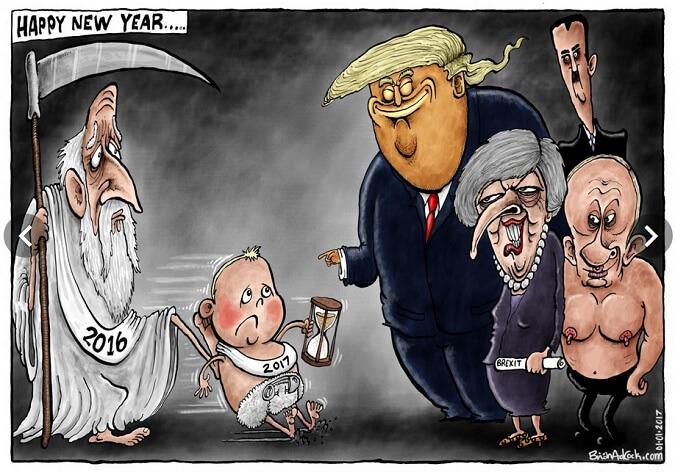 1 January 2017 - Happy New Year/kartun: Dok. Independent
