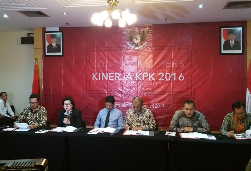 Laporan Kinerja KPK di Tahun 2016 di Gedung KPK, Jakarta, Senin, (9/1/2017)/Foto Fadilah/NUSANTARAnews