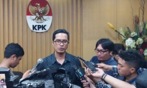 Jubir KPK, Febri Diansyah, di Gedung KPK, Jakarta Selatan, Rabu, (11/1/2017)/Foto Fadilah/NUSANTARAnews