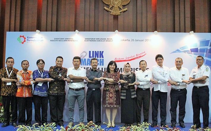 Usai acara Link and Match melalui Temu Bisnis antara IKM dengan BUMN dan Industri Besar di Jakarta, Kamis (26/1/2017)/Foto: Dok. Humas Kemenperin