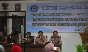 Diskusi dan Dklarasi Masyarakat Tuban Anti Hoax. Foto Dok. Pribadi