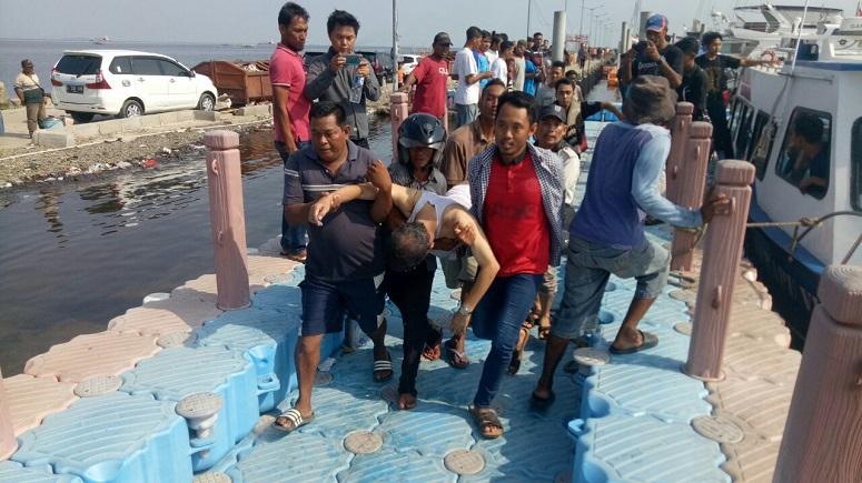 Kapal Wisata Tujuan Pulau Seribu Terbakar/Foto Istimewa