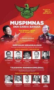 Muspimnas DKN Garda Bangsa (Poster/Istimewa)
