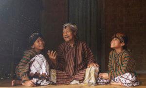 Ilustrasi masyarakat Jawa Bercerita. Foto via peristiwa-id