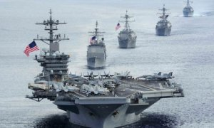 Dok. Kapal induk Amerika Serikat (AS), USS Theodore Roosevelt, di Laut China Selatan US Navy/Foto: Istimewa