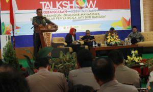 Kasdam IV Diponegoro saat menyampaikan materi dalam talkshow yang digelar BEM dan Menwa UMK/Foto: Rosidi