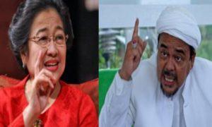 Ketegangan Megawati dan Rizieq Shihab. Foto IST