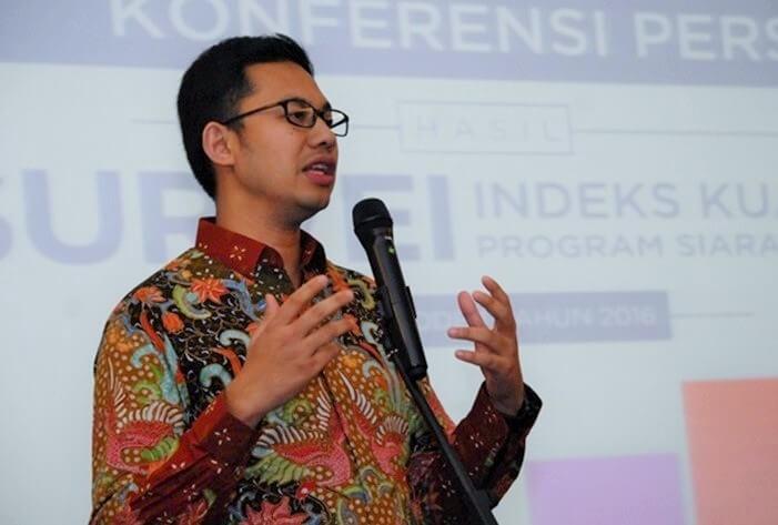 Ketua Komisi Penyiaran Indonesia (KPI), Yuliandre Darwis/Foto: Dok. media.iyaa.com