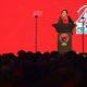 Ketua Umum PDI Perjuangan Megawati Soekarnoputri menyampaikan pidato politiknya pada acara Perayaan HUT PDIP ke-44/Foto: Republika