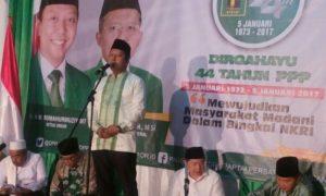 Ketua Umum PPP Romahurmuzy Sambutan dalam Harlah PPP ke-44. Foto Dok. Ja'far Shodiq