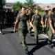 Kodim 0808/Blitar lakukan Long March 12 KM. Foto Dok. Kodim Blitar