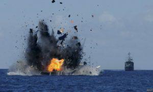 Pemboman Kapal Ilegal di Laut Lepas Filipina. Foto Ilustrasi/Reuters