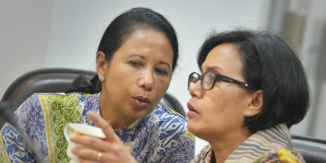 Sri Mulyani dan Rini Soemarno. Foto via dream