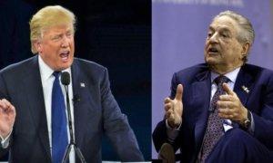 Donald Trump dan George Soros/Foto Ilustrasi: Nusantaranews