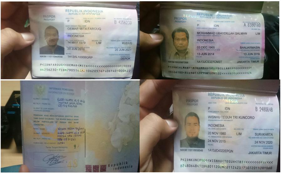Paspor empat WNI Diduga Akan Gabung ISIS dideportasi pemerintah Turki. Foto Adhon/Nusantaranews