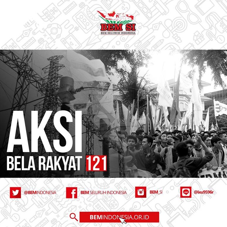 Poster Aksi Bela Rakyat 121 (Istimewa)