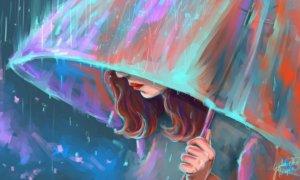 The Umbrella Girl Art HD Wallpaper/Foto: Dok. Vactual Papers