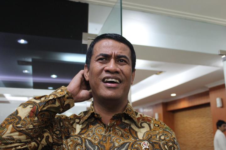 Menteri Pertanian Andi Amran Sulaiman di Auditorium Kementerian Pertanian, Jakarta Selatan,Kamis (2/2/2017)/Foto Andika/NUSANTARAnews