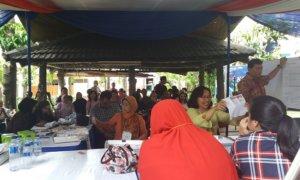 Ahok-Djarot Unggul di TPS Kediaman Agus Yudhyono Sementara ini/Foto Restu Fadilah / NUSANTARAnews