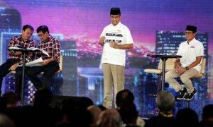 Anies-Sandi saat menyampaikan pemaran di debat pilkada 3/Foto: Detikcom / Rengga Sancaya