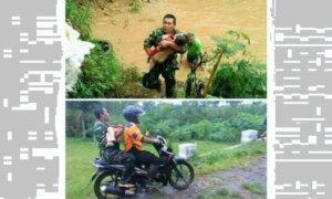 Coba Selamatkan Balita Terbawa Arus Sungai/Foto: Istimewa
