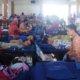 UKM Korps Sukarela (KSR) PMI Unit Universitas Muria Kudus (UMK) kembali menggelar kegiatan sosial donor darah di Auditorium Kampus, Rabu (22/2/2017)/Foto Rosidi/ UKM KSR UMK