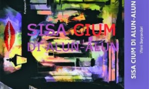 "Latar Ilustrasi: Cover Antologi Puisi ""Sisa Cium di Alun-Alun""/Ilustrasi: NUSANTARAnews"